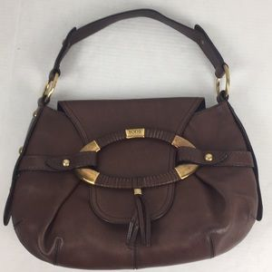 Tod's Leather Brown Bag Wrapped Brass Hobo
